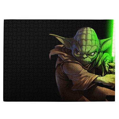 VOROY Jigsaw Picture Puzzles Ages 3-7 520 Piece, Star Wars Yoda Jedi,15' X 20.4' Educational Family Game Wall Artwork Gift For Adults Teens Kids