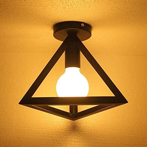 LZLYER Lámpara de Pared Industrial Edison 1S Techo Semi Empotrado Hierro Forjado Candelabro Balck E27 para Cocina Habitación de Niños,B