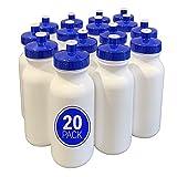 20PK bulk water bottles, 20oz water bottles in bulk, reusable water bottles bulk, plastic water bottles bulk, bulk water bottles reusable, water bottles in bulk, packs of water bottles, Made in the USA. (20)