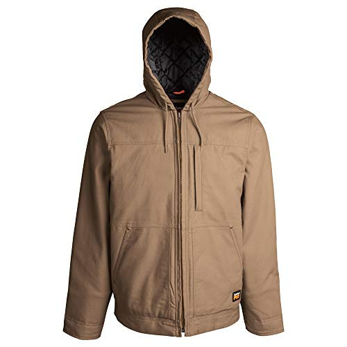Timberland PRO Men's A1HVE Baluster Insulated Hooded Jacket - Large - Dark Wheat