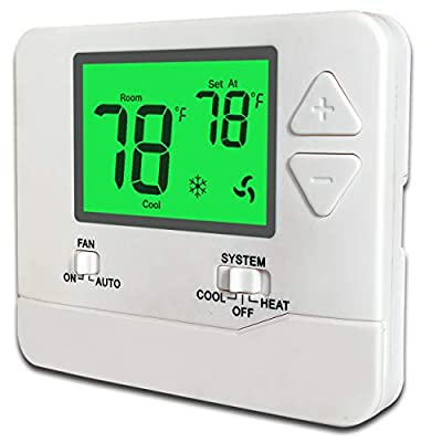 Heagstat Non-Programmable Electronic Thermostat, Up to 1 Heat/1 Cool