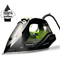 Taurus Geyser Eco 3000 - Plancha de vapor 3000W, elimina el 99,999999% de virus y bacterias, 200 g/min, punta de precisión, suela anodizada, regulador de vapor y temperatura, antical recargable