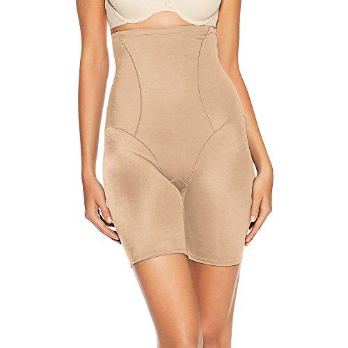 Bali Women's Shapewear Cool Comfort Hi-Waist Thigh Slimmer, Nude, Large