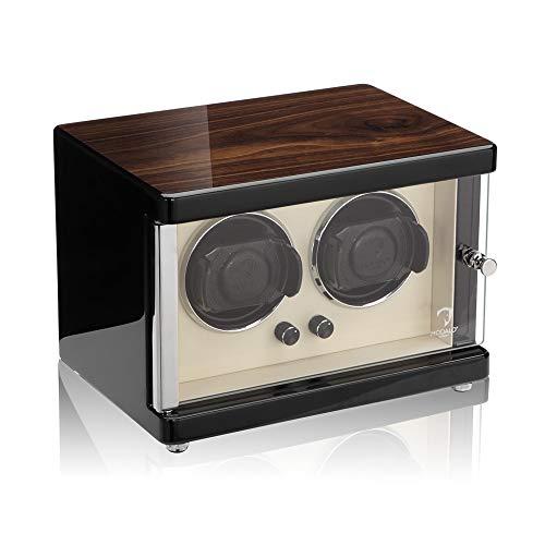 Uhrenbeweger (Watch Winder) Ambiente MV4 für 2 Uhren Walnuss-Holz Design