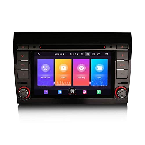 LYHY Navigatore per Auto Android 10.0 7'Autoradio Navigatore satellitare Lettore Dvd 2 DIN per Fiat Bravo Supporto GPS Carplay Android Auto Bluetooth WiFi SWC Dab + DVB-T2 2 GB RAM + 16 GB Rom