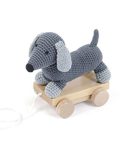 Smallstuff - Nachziehtier - Hund - grau - L24 x H15 cm