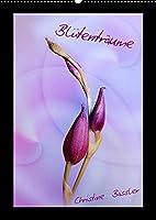 Bluetentraeume (Wandkalender 2022 DIN A2 hoch): Blueten in den Farben rosa bis lila (Monatskalender, 14 Seiten )