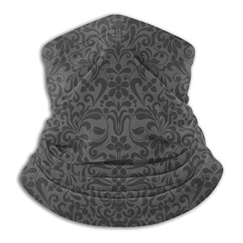 Copricapo Sfondo Trasparente Colore Nero Stile Damasco 10'x11,6 Pollo Sciarpa Invernale Addensare Cerchio da Sci Antivento e Antipolvere per Uomo