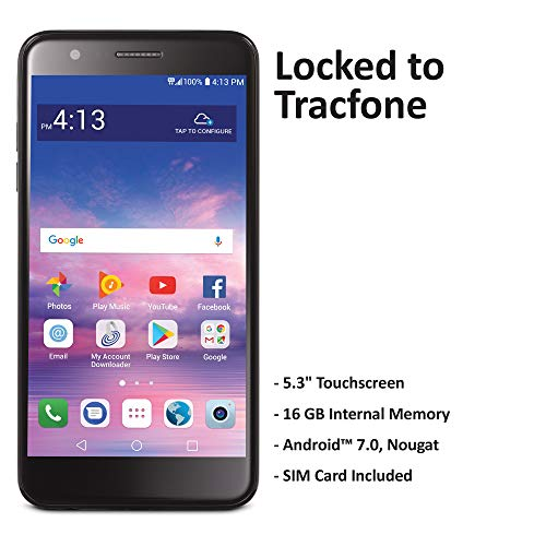 TracFone LG Premier Pro 4G LTE Prepaid Smartphone (Locked) - Black - 16GB - Sim Card Included - CDMA