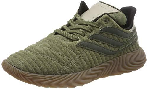 adidas Sobakov, Zapatillas de Gimnasia Hombre, Verde (Raw Khaki/Night Cargo/Light Brown), 39 1/3 EU
