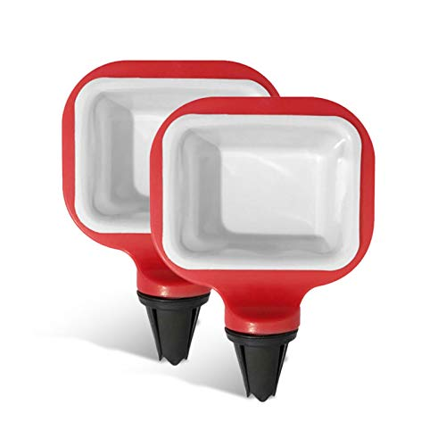 Hifuture123 Auto Soßenhalter 2 Stück Tragbar Soßenhalter Im Auto Soßenschale Für Ketchup-Dip-Saucen Tragbar