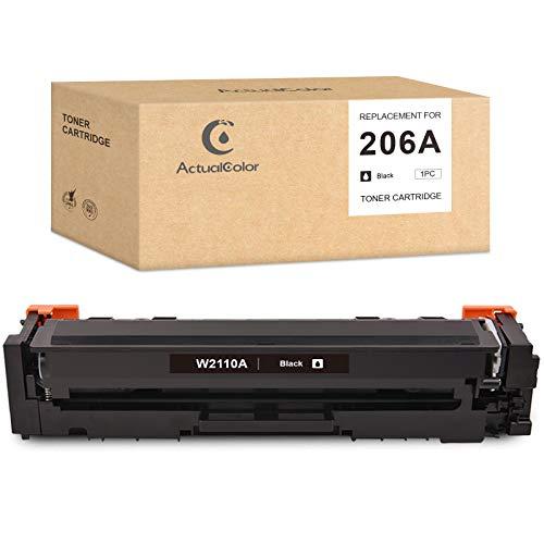 Price comparison product image Actualcolor C Compatible Toner Cartridge Replacement for HP 206A 206 W2110A NO CHIP for Color Laserjet Pro M255dw MFP M282nw MFP M283fdw MFP M283cdw (Black, 1-Pack)