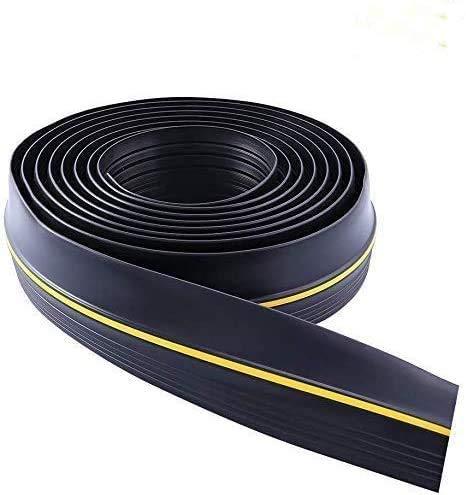 InLoveArts Sello de la puerta del garaje, Sello de goma inferior del excluidor de tiro , Tira de umbral de piso universal , Ideal para mantener los garajes limpios y secos