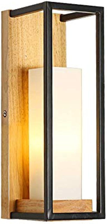 Nordic Holz Wandleuchte Glas Kerzenstnder Wandlampen Kinderzimmer Dekoration Schlafzimmer Nachttischlampe Warmes Nachtlicht Für Gang Wohnzimmer Küche Wandleuchte E27