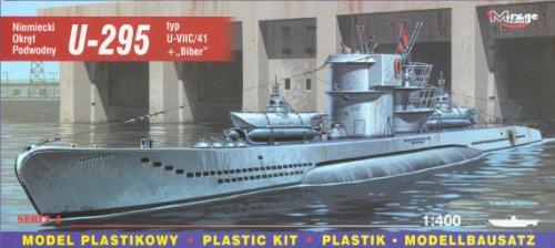 Mirage Hobby 40412, 1: 400 échelle, U-295 Type VIIC U-/ 41 + 'Biber' sous-marin allemand, kit de modèle en plastique