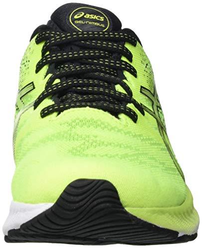 Asics Gel-Nimbus 23, Road Running Shoe Hombre, Hazard Green/Black, 44 EU