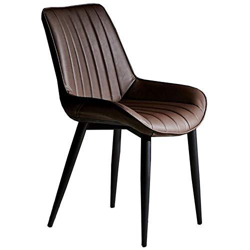 DALL eetstoel moderne stijl rugleuning tafel stoel zwart metalen benen make-up stoel PU kussen vrije tijd koffie stoel montage