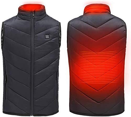 CHNDR kinder-USB-oplaaddoos, verwarmbare gilet, elektrische verwarming jas voor kinderen, buiten reizen warme lichaamskleding, wasbare school en skiën winterverwarming vest, geel-hoogte 160 cm