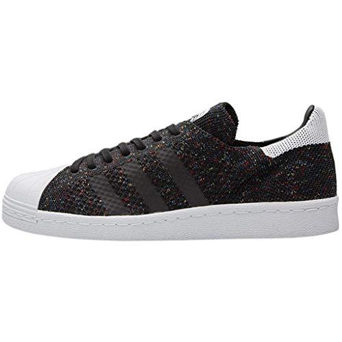 adidas Superstar 80's Primeknit Heren Sneaker Zwart, Core Zwart/FTWR Wit, Maat 49 1/3 UK 13