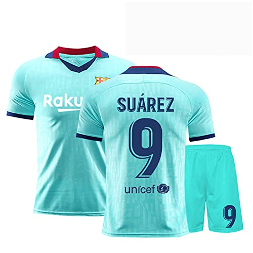 Backboards 2019-2020 Retro Season Jersey,Barcelona #10 Club Camiseta Primera Equipación,Portero Camiseta de Manga Corta,Unisex Adulto Niños,Blue9,XL