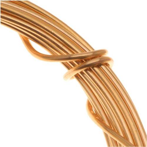 Gold Plated German Bead Craft Wire 26 Gauge .4 Dia 15 Meters 42653