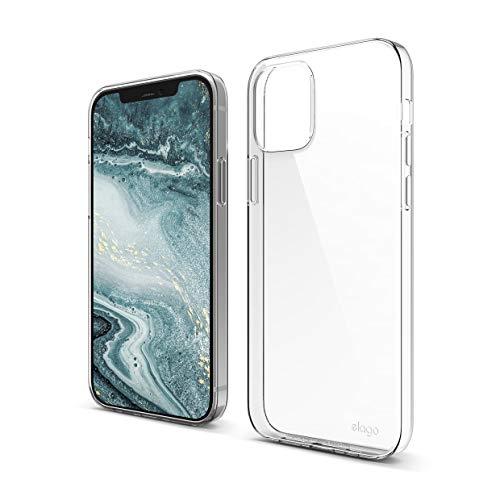 "elago Clear Case Kompatibel mit iPhone 12 Hülle und Kompatibel mit iPhone 12 Pro Hülle (6,1""), Durchsichtig Handyhülle Dünn Weich TPU, Display & Kamera Schutz, Stoßfeste Schutzhülle (Transparent)"