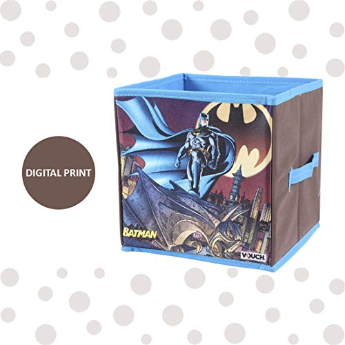 Batman Toys Organizer, Storage Box for Kids; Small -Set of 2 Pieces (Blue)