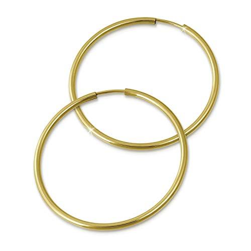 GoldDream 8 Karat Creolen 40mm 333 Gelbgold Ohrring Echt Gold Simply D2GDO0004Y ein schönes Geschenk zu Weihnachten, Geburtstag, Valentinstag für die Frau