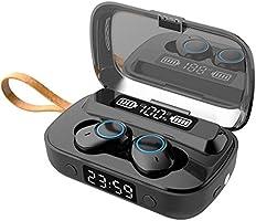 Casque Bluetooth, Casque sans Fil Casque Intra-auriculaire Bluetooth 5.1 avec Microphone intégré Écouteurs de Sport...