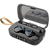 Casque Bluetooth, Casque sans Fil Casque Intra-auriculaire Bluetooth 5.1 avec Microphone intégré Écouteurs de Sport Casque de 60 Heures avec Affichage LED numérique Montre Lampe de Poche(B1)