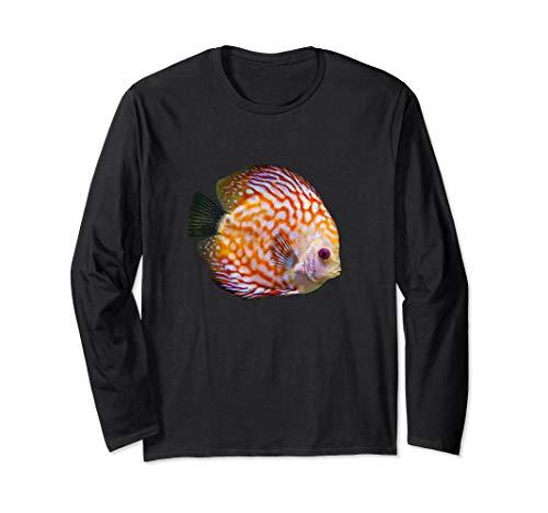 Diskus Diskusfisch Buntbarsch I Aquarianer Hobby Langarmshirt