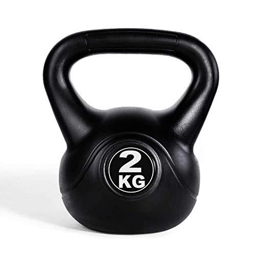 WJJ Pesa Rusa Pesa Rusa 8kg Kettlebell Fitness Kettlebell, Damas Y Hombre Home Competitive Squat Kettlebell Ball, Kettlebell Dumbbell 2-14kg (Color : Black, Size : 10KG)