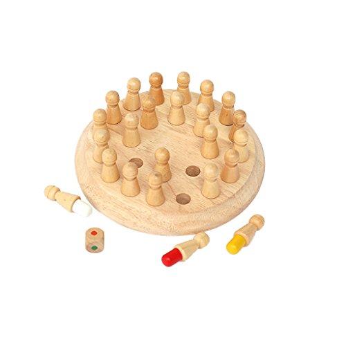 FLAMEER Torre De Madera Clásica De Juguetes De La Diversión del Juguete del Enigma De La Familia De Juegos De Hanoi para Niños - #3