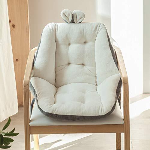 RAQ Comfort half ligkussen voor bureaustoel, pijnverlichtende ischiasstoelen voor stoelen met rugleuning en kussen 45x45cm Wit.