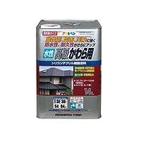 アサヒペン 水性高級かわら用 日本瓦銀 14L