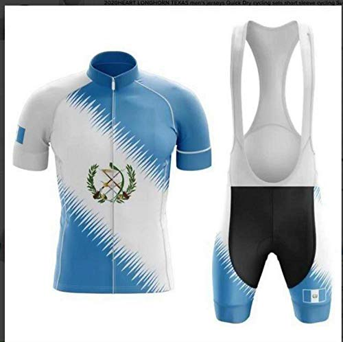 Factory8 - Country Jerseys - Love Your Country! Cycling Jerseys & Sets Collection - Team Guatemala Men's Cycling Jersey & Bib Short Set - Jersey & Bib Short Set - L