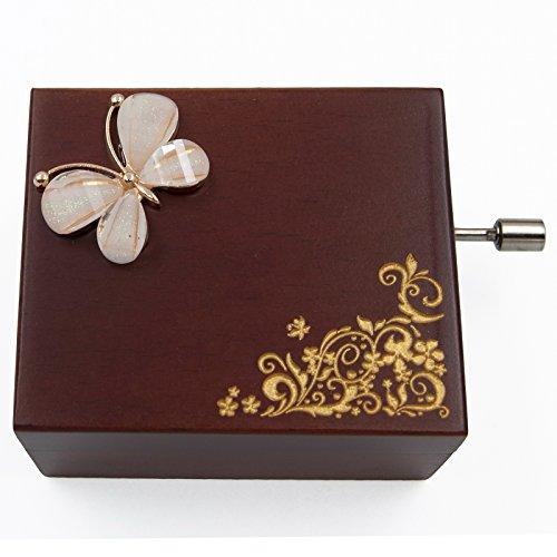 Mini handcrank Caja de música (Melodía de la piel Elise