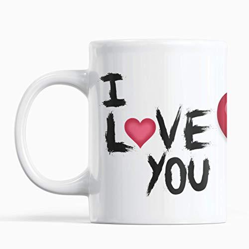 Taza I LOVE YOU enamorados