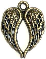 مجموعة من 60 قطعة زينة لأجنحة الملاك للمجوهرات التي تصنعها بنفسك، أساور زينة، قلادة، قلادة