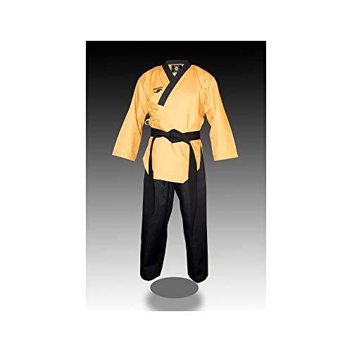 Dorawon Master col Y, Dobok poomsae Uniforme di Taekwondo Unisex-Adulto, Giallo, 170 cm