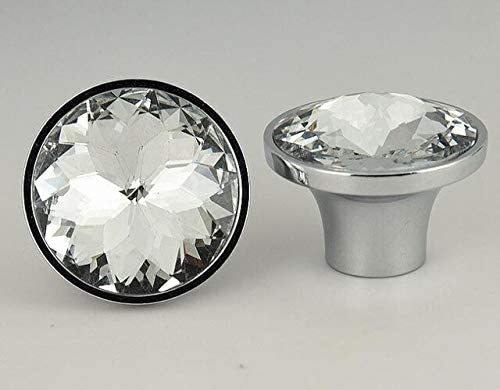 bauhinia Crystal Glass Knobs Cupboard Recommended Pulls Financial sales sale Kn Rhinestone Drawer