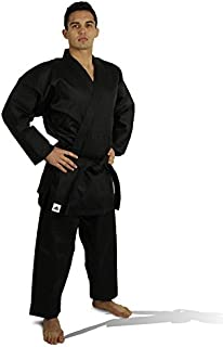 adidas Student Karate Black & White 8oz Uniform/Gi with Free Belt WKF Approved Sizes 0000 to 7
