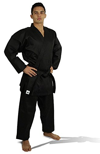 adidas Student Karate Black 8oz Uniform/Gi with Free Belt WKF Approved Sizes 0000 to 7