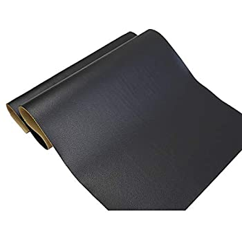 Large Leather Repair Patch Adhesive Back First-aid for Upholstery Couch Car Seat Jackets Handbags 12x24 Inches Pack of 2  Black