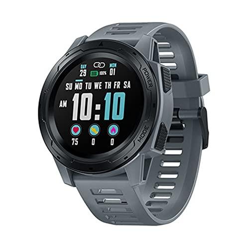 LG&S Modos Multideportivos Rastreador De Ejercicios Relojes Inteligentes Monitor De Frecuencia Cardíaca/Sueño Reloj Inteligente Pantalla De Visualización A Color De 1,3 '' Reloj De Pulsera,Gris