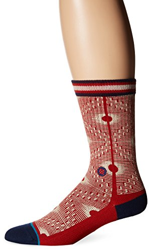 CALCETINES STANCE BLUE BACK ALLEY ROJO - L, rojo