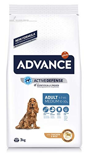 ADVANCE Medium Adult - Pienso para Perros Adultos de Raza Mediana - 3 Kg