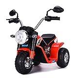 Costway Moto Electrique pour Enfants 6 V Moto Véhicule Electrique pour Enfant à partir de 3 à 5 Ans Capacité de Charge 20KG Vitesse : 3-4km/h (Rouge)