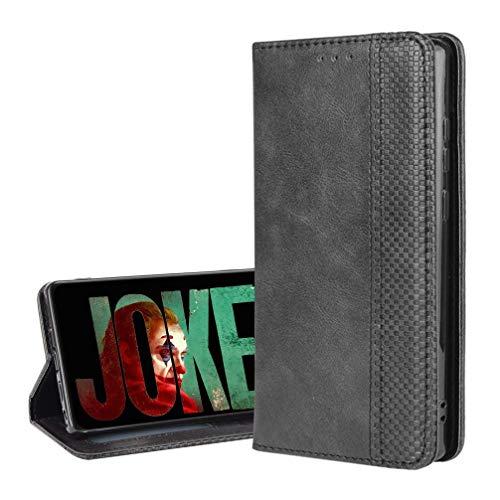 BIGSONG Flip Funda con Xiaomi Poco F3,Tapa de Billetera de Cuero Retro Cierre Magnético Folio Soporte Ranuras para Tarjetas.