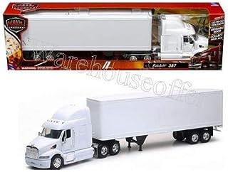 New Ray Toys New 1:32 NEWRAY Truck & Trailer Collection - Peterbilt 387 Trailer SEMI Plain White Diecast Model